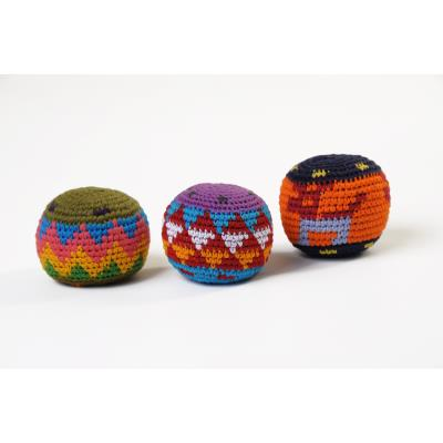 LOT DE 3 BALLES RASTA MULTICOLORES