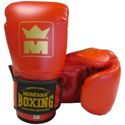 PAIRE DE GANTS BOXE INITIATION ROUGE MONTANA