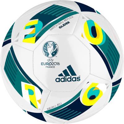 BALLON FOOTBALL TOP GLIDER EURO 2016 BLANC ET VERT ADIDAS