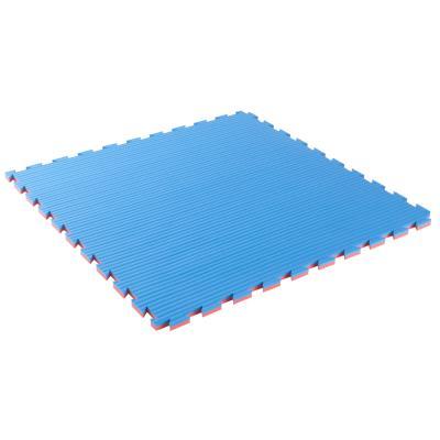 Tapis de sol pour karaté 22 mm épaisseur bleu rouge