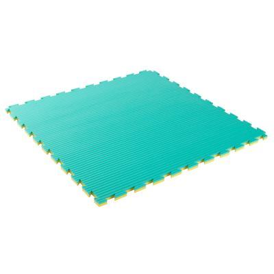 Tapis de sol pour karaté 22 mm épaisseur vert jaune