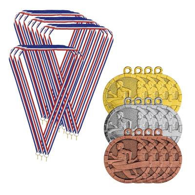 Lot de 12 médailles Cross/Running avec cordon - Cross/Running