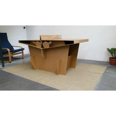 TABLE DE PING-PONG EN CARTON PAPER PONG