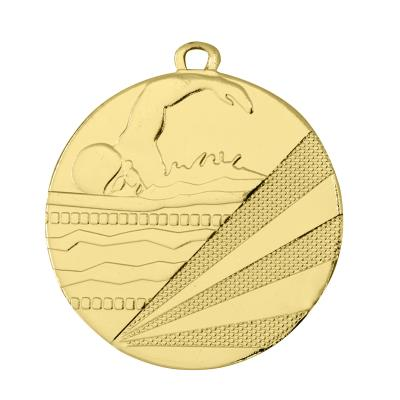 MÉDAILLE FRAPPÉE NATATION OR 50 MM