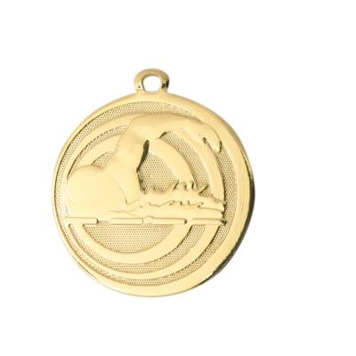 MÉDAILLE FRAPPÉE NATATION OR 32 MM