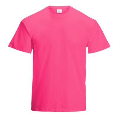 TEE-SHIRT COTON 190G MIXTE ADULTE ROSE FUCHSIA