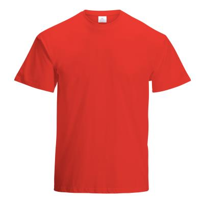 TEE-SHIRT COTON 190G MIXTE ADULTE ROUGE