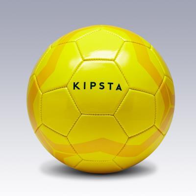 BALLON DE FOOTBALL FIRST KICK TAILLE 4 (ENFANTS DE 8 À 12 ANS) JAUNE