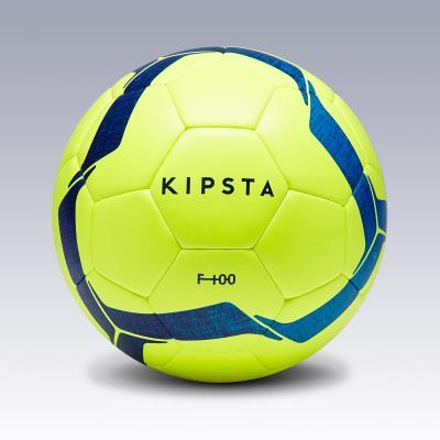 Ballon de football F100 Hybride taille 4 jaune