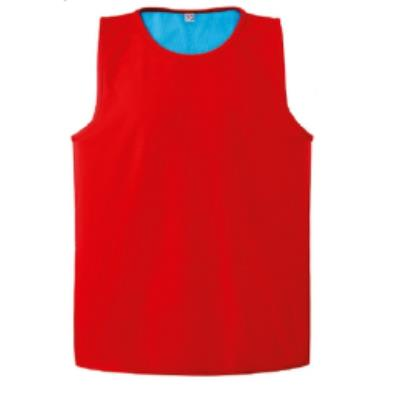 CHASUBLE RUGBY RÉVERSIBLE ROUGE / BLEU TURQUOISE
