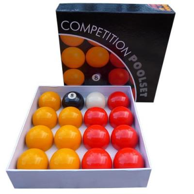 LOT DE 16 BILLES DE BILLARD POOL ANGLAIS PRO STANDARD 50,8MM