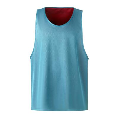 Chasuble réversible rouge/ turquoise