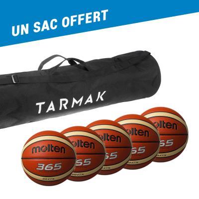 Lot de 5 ballons basket Molten GHX   un sac offert - 7 -
