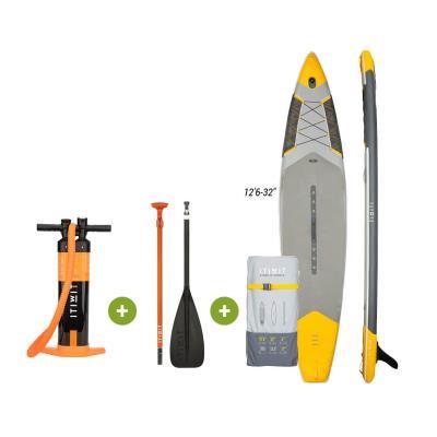 """kit paddle réglable gonflable itiwit jaune - Jaune 12'6 - 32"""""""