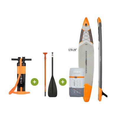 """kit paddle réglable gonflable itiwit orange - Orange 12'6 - 29"""""""