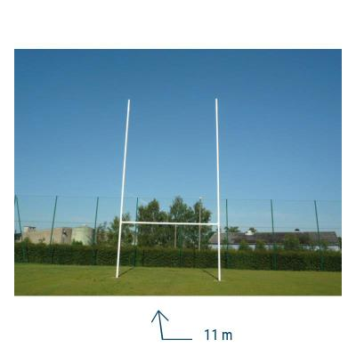 POTEAUX RUGBY 11 METRES CHARNIERS ALUMINIUM