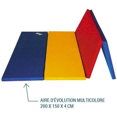 AIRE D'ÉVOLUTION PLIABLE MULTICOLORE 200 X 150 X 4 CM