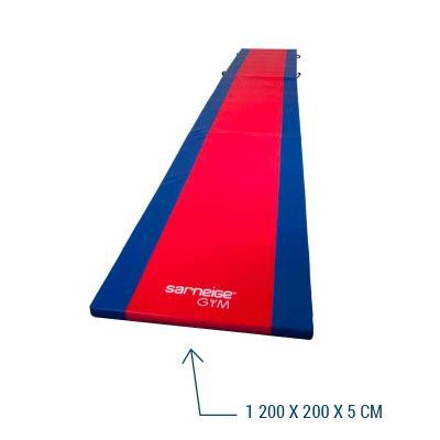 Chemin de gymnastique bicolore GVG 1200x200x5cm.