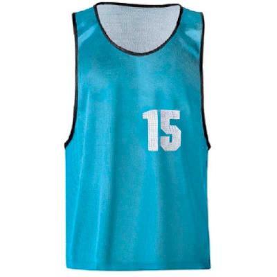 CHASUBLES de sport NUMÉROTÉES 11 À 15 bleues