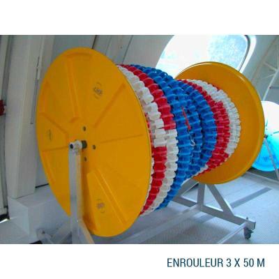 enrouleur ligne d'eau piscine polyester 3 X 50 M