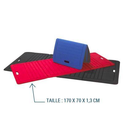 nattes de gym pliable 170 x 70 x 1,3 cm rouge