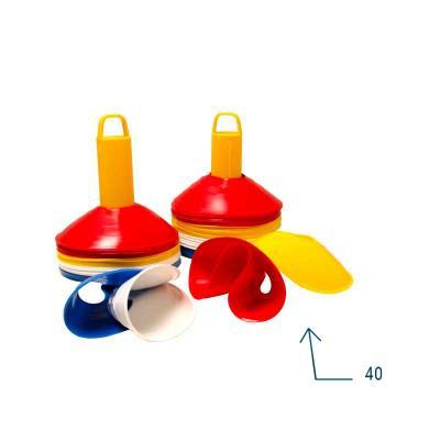 Lot 40 mini-coupelles de sport extra-souple