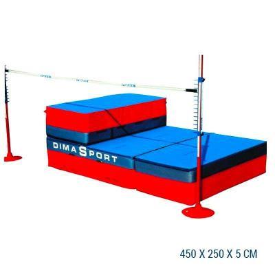 Sautoir de saut en hauteur repliable en 3 parties 450X250X5
