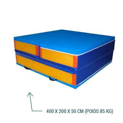 Sautoir de saut en hauteur repliable en 3 parties 400X200X5