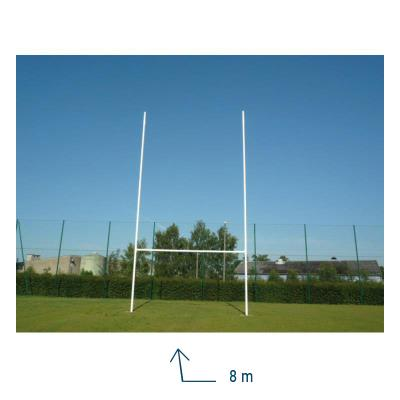 POTEAUX RUGBY ALUMINIUM 8M CHARNIERES
