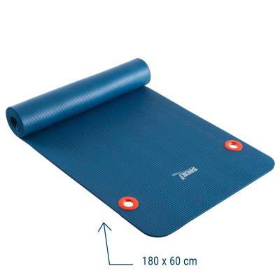 Tapis de sol gym avec oeillets 180 X 60 cm bleu