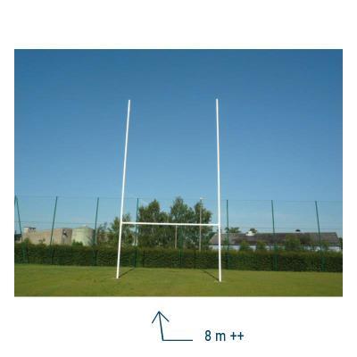 paire de poteaux rugby en aluminium 8m