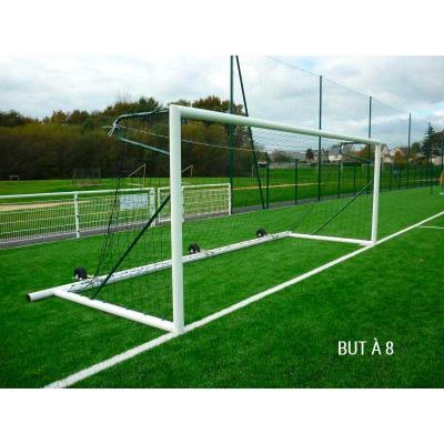 But de football transportable à lestage mobile ALU à 8