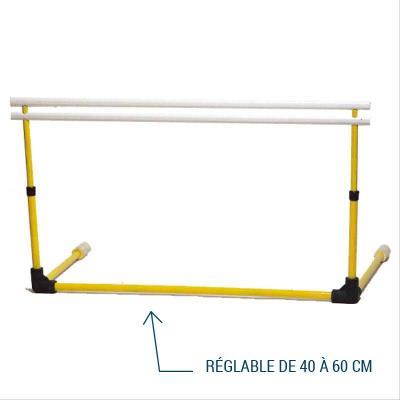 Haie sport démontable réglable de 40 à 60 cm