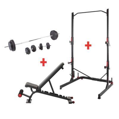 Kit banc 900, rack 900 et kit haltères 93 kilos