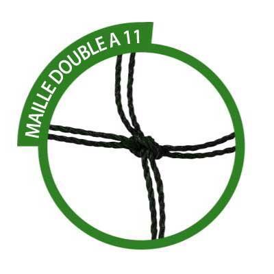 filets buts à sceller à 11 trapézoïdale  2mm maille double (la paire)