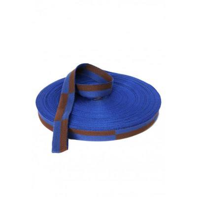 Ceinture de karaté en rouleau 50m bleu/marron