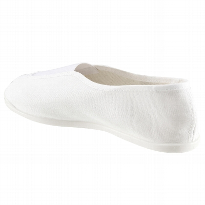 Chaussons de gym douce adulte blanc Rythm 300.