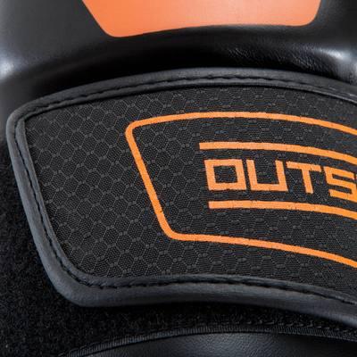 BOXING GLOVES 500 noirs, gants d'entraînement régulier homme femme