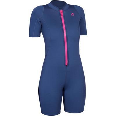 Shorty de snorkeling 100 femme gris rose
