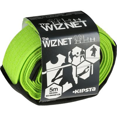 Filet de beach-volley extensible The Wiz Net vert