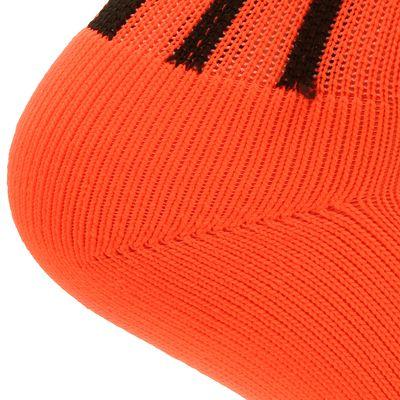 Chaussettes hautes de football adulte F500 oranges fluos