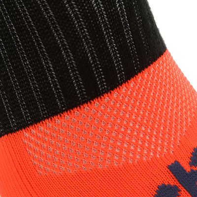 Chaussettes hautes football adulte F 500 orange fluo