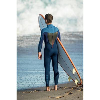 Combinaison SURF 500 Néoprène 3/2 mm Homme Bleu
