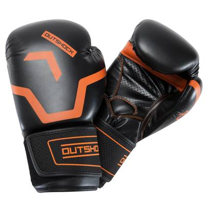 new concept eacea 6e2c0 Gants de boxe 500 noir orange confirmés ...