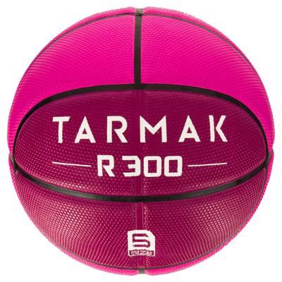 Ballon de basket enfant R300 taille 5 rose. Résistant. Jusqu'à 10 ans