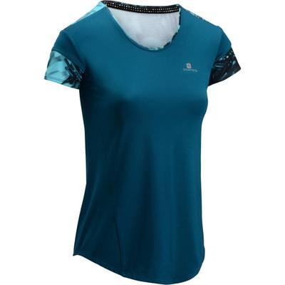 T-shirt fitness cardio femme bleu 500 Domyos