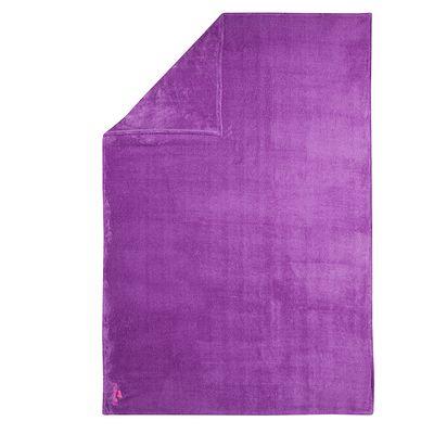 Serviette microfibre ultra douce violette taille XL 110 x 175 cm
