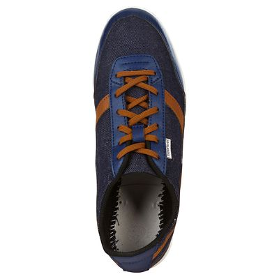 Chaussures marche quotidienne Many jean / marron