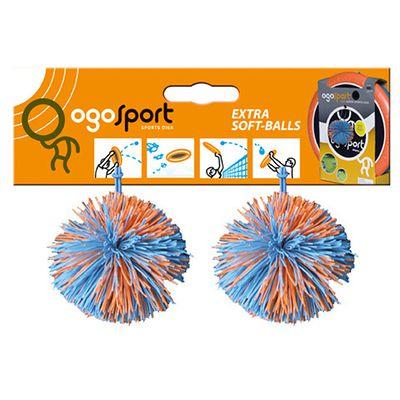 Set de 2 balles OGO SPORT pour débuter les jeux de raquettes.