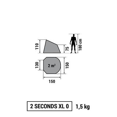 ABRI RANDONNEE 2 SECONDS 0  XL UPF 30 VERT
